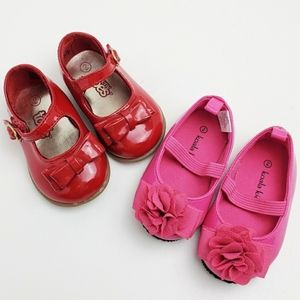 Bundle of TWO Pairs Baby Girl Shoes